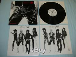 MOTLEY CRUE Too Fast For Love 12 vinyl LP Leathur Records SIGNED 2nd press