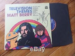 Matt Berry Television Themes Orange Vinyl SIGNED LP 2018 Record Acid Jazz NEW