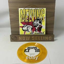 Melvins Shit Sandwich Vinyl 7 Clear Orange with Black Specs SIGNED RARE