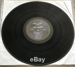 Metal Massacre Metallica 12 Black Vinyl Record Signed By Ron! First Press