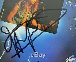 Metallica (4) Hetfield, Burton, Ulrich & Hammett Signed Album Cover With Vinyl BAS