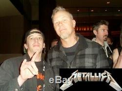 Metallica Autographed Vinyl Record