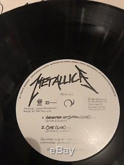 Metallica Fully signed Vinyl 1990. Harvester Of sorrow 12 James Hetfield rare