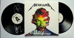 Metallica SIGNED Hardwired. To Self-Destruct 2x vinyl LP COA by Lars & Robert