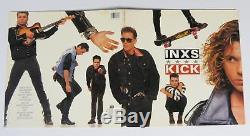 Michael Hutchence INXS Signed Autograph Kick Album Vinyl Record LP by All 6
