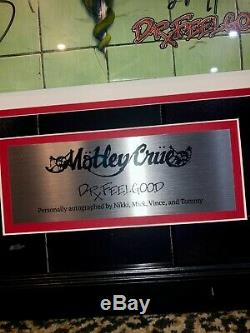 Motley Crue Shout at the Devil autographed signed framed album record LP Vinyl