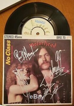 Motorhead Signed 7 45 Vinyl. Autographed By 4. Lemmy