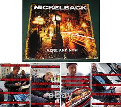 NICKELBACK signed HERE AND NOW VINYL ALBUM COVER LP PROOF Chad Kroeger COA