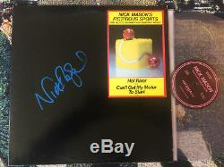 Nick Mason Autograph He Signed Fictitious Sports Clear Vinyl Lp Promo Pink Floyd