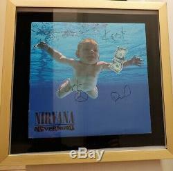 Nirvana Nevermind Vinyl LP signed by Kurt Cobain, Krist & Dave