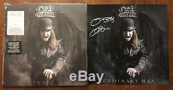 OZZY OSBOURNE signed autographed Litho ORDINARY MAN VINYL Limited Smoke LP