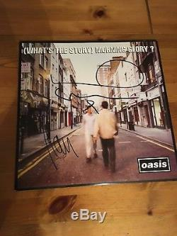 Oasis Whats The Story Morning Glory Vinyl Signed By Noel And Liam