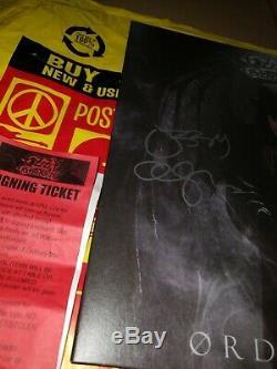 Ozzy Osbourne Signed Ordinary Man Vinyl Lp + Event Poster Amoeba
