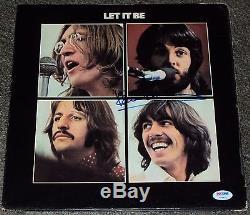 Paul Mccartney Signed Autograph Let It Be Beatles Album Lp Vinyl Psa/dna V04620