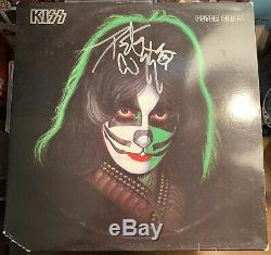 Peter Criss Rare Authentic Signed Solo Kiss Vinyl LP Record + COA Autograph Cat