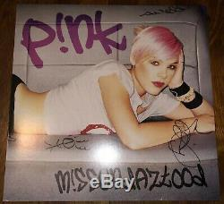 Pink Missundaztood Signed LP Vinyl Autograph P! NK M! Ssundaztood RARE