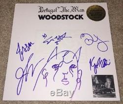 Portugal. The Man Full Band Signed Woodstock Album Vinyl Feel It Still +5 White