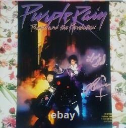 Prince Signed Purple Rain Album Vinyl 12 Record LP Mint Autograph PSA