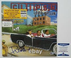 Pusha T Signed Clipse Lord Williin' Vinyl Record 12 LP Rap Legend RARE Beckett