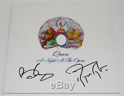 Queen Brian May & Roger Taylor Signed A Night At The Opera Vinyl Record Beckett