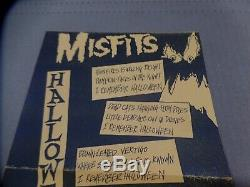 RARE 1981 THE MISFITS HALLOWEEN 7 1ST PRESS WithINSERT VINYL PL1017 AUTOGRAPHED