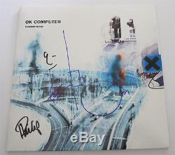 Radiohead Signed Album Lp Vinyl 12 Ok Computer Thom Yorke Jsa Exact Proof