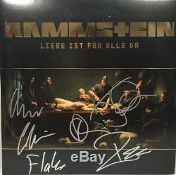 Rammstein Signed Autographed Liebe Ist Fur Alle Da Vinyl Album Till Lindemann ++