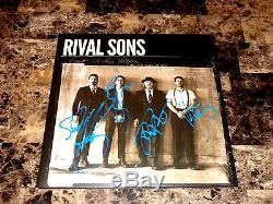 Rival Sons Rare Band Signed Autographed Vinyl Record Great Western Valkyrie COA