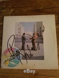 Roger Waters Pink Floyd Autographed/signed Original Vinyl Album Wish You Were He