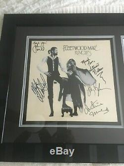 Rumours SIGNED BY BAND LP by Fleetwood Mac FRAMED