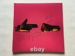 Run The Jewels 4 Clear With Magenta Colored Vinyl 2XLP + Autographed Sleeve