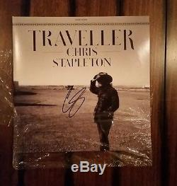 SIGNED CHRIS STAPLETON In Person TRAVELLER Album Record Vinyl LP Autograph Auto