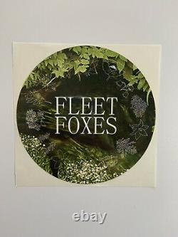 SIGNED Fleet Foxes Shore Red Marble Clay Vinyl #/1000