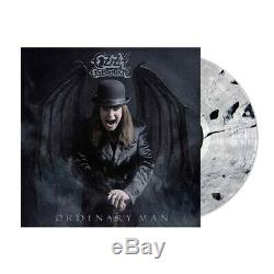 SIGNED OZZY OSBOURNE ORDINARY MAN Clear Black Marble VINYL LP Official Litho