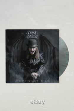 SIGNED OZZY OSBOURNE ORDINARY MAN Deluxe Silver Smoke VINYL LP & Litho