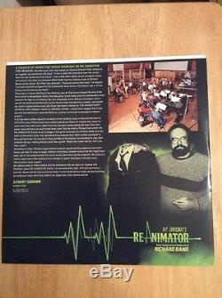 SIGNED Re-Animator Green Vinyl LP Richard Band + Poster, Pic