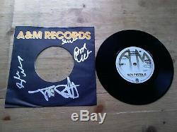SIGNED Sex Pistols God Save The Queen EX 7 Vinyl Record AMS 7284 Reissue