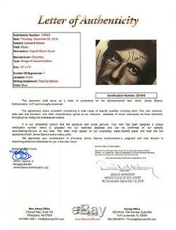 SO LONG MARIANNE Leonard Cohen Signed Songs of Vinyl Album EXACT PROOF JSA COA