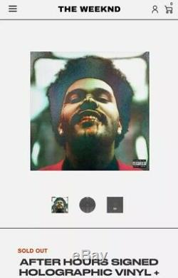 SOLD OUT AUTOGRAPH SIGNED The Weeknd After Hours Black Vinyl Holographic Cover