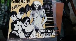 Samhain Unholy Passion (VINYL) RARE PLAN 9, signed by Eerie Von -Misfits, Danzig
