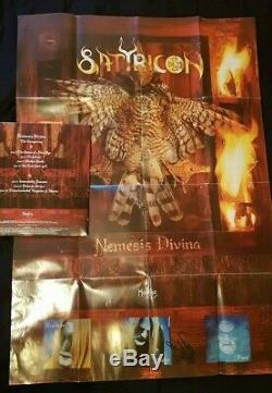 Satyricon SIGNED Nemesis Divina 1st Press vinyl LP