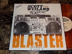 Scott Weiland Signed Blaster Orange Vinyl LP Stone Temple Pilots Velvet Revolver