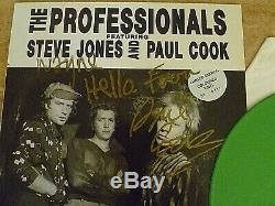 Sex Pistols/the Professionals Rare Signed Ltd Edition Numbered Green Vinyl Lp