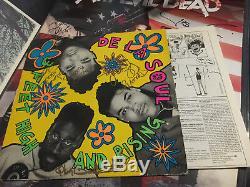 Signed 1989 De La Soul 3 Feet High And Rising Original Vinyl LP Record Album Art