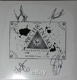 Signed Arch Enemy Autographed War Eternal Rare Bootleg Lp Vinyl Record #390/500