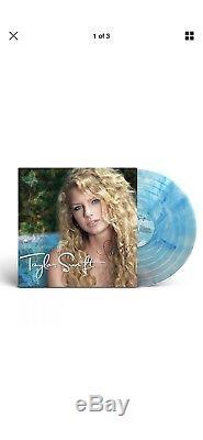 Signed Autograph Taylor Swift Turquoise Vinyl LP Debut Album