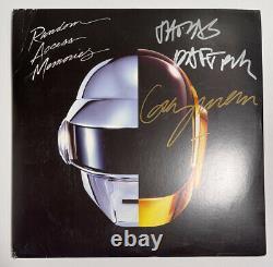 Signed DAFT PUNK RANDOM ACCESS MEMORIES VINYL Thomas Guy Grammy 2014