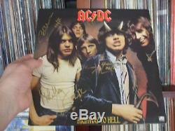 Signed In Gold Paint Marker Ac DC Ac/dc Highway To Hell Vinyl Lp Beautiful