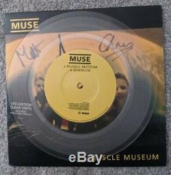 Signed original Muse/Muscle Museum/1999 Clear Vinyl 7 Single NEVER PLAYED