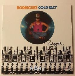 Sixto Rodriguez Signed Cold Fact Vinyl LP PSA COA # AB94308 Autographed